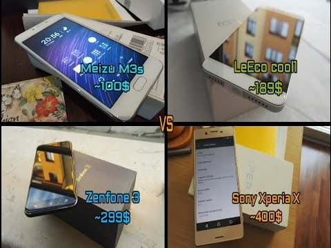 Zenfone 3 vs LeEco cool1 vs Sony Xperia X vs Meizu M3s - SMARTPHONE BATTLE