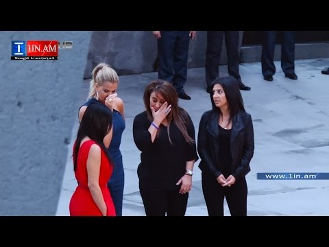 Kim Kardashian remembered victims of Armenian genocide - Yerevan, Armenia April 10, 2015