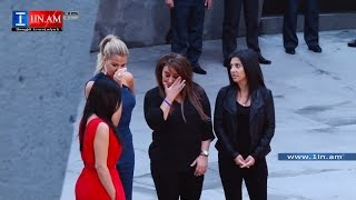 Kim Kardashian remembered victims of Armenian genocide - Yerevan, Armenia April 10, 2015