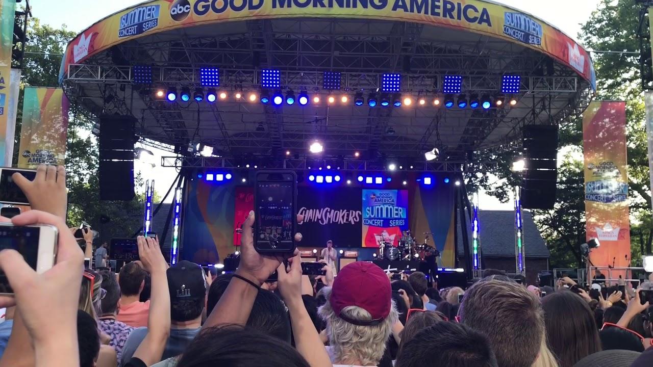 The Chainsmokers Closer Sick Boy Paris Live GMA Summer Concert Series 2018