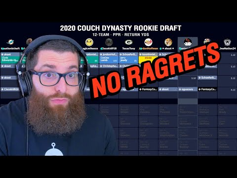 Fantasy Football Dynasty Rookie Draft 2020