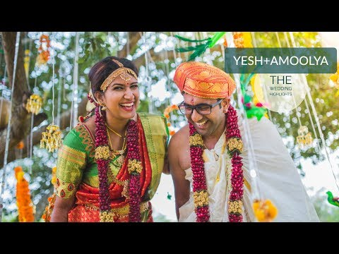 The Beautiful Wedding Highlights {Yesh+Amoolya} : Creative Chisel, Bangalore
