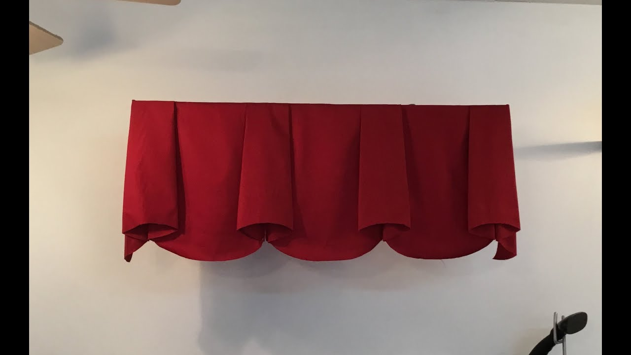 How To Make Scalloped Valance With Bells Part 1 Youtube