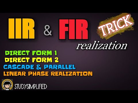 REALIZATION of IIR and FIR filters- DIRECT...