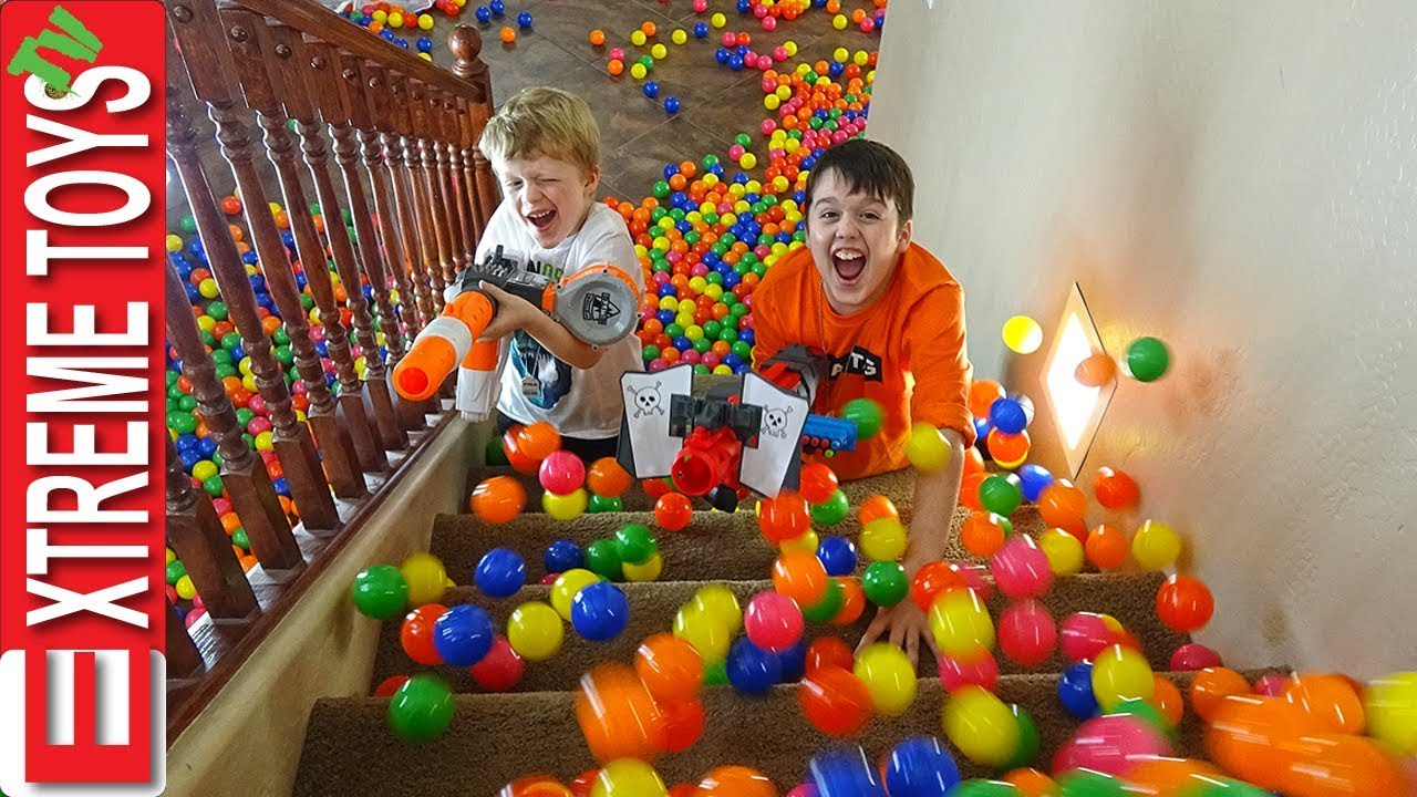Sneak Attack Squad Training Part 3! Nerf Battle with Ethan's Mystery Box.