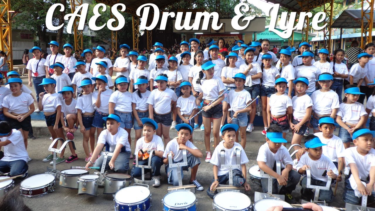 Drum Amp Lyre Band With Majorettes And Flagmen Cecilio