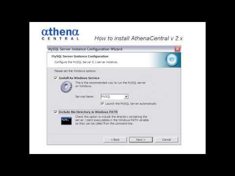 How to install AthenaCentral v 2  club management software - free & open source)