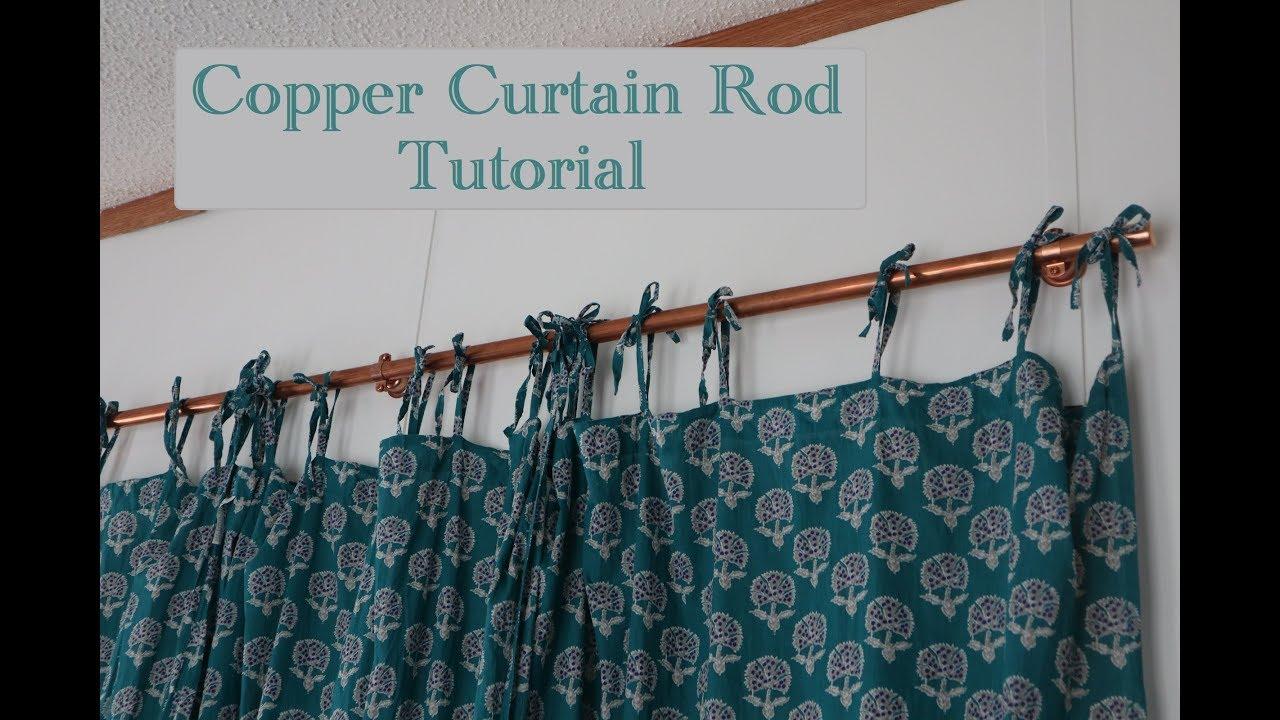 diy copper pipe curtain rod tutorial