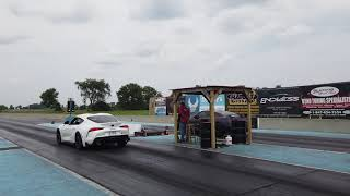 2020 A90 Toyota Supra Beats Nissan GT-R with Perfect 0.000 reaction time!