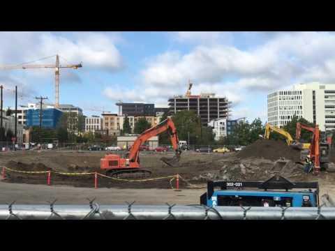 Excavator video for children - real construction trucks for kids