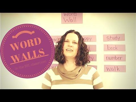 ITA - Word Walls: Use in the ESL Classroom