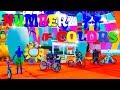 SPIDERMAN CARTOON for KIDS LEARN COLORS BMX & MotorCycles JUMP! with Superheroes Video 3D