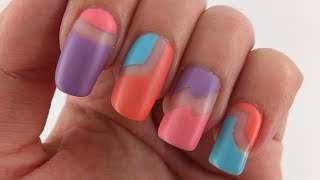 Matte Cutout Nail Art Design Tutorial
