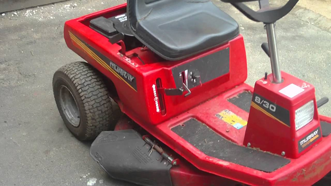 Wiring Diagram For Murray Riding Lawn Mower Rv Cable Tv Rear Engine Great Installation Of 8 30 Briggs Stratton 8hp Ride On Sit Lawnmower Youtube Rh Com Ignition Switch