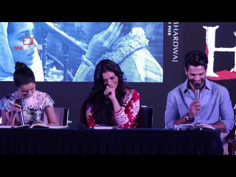 Funny Conversation Between Shahid Kapoor & Shraddha Kapoor | Haider | Book Launch