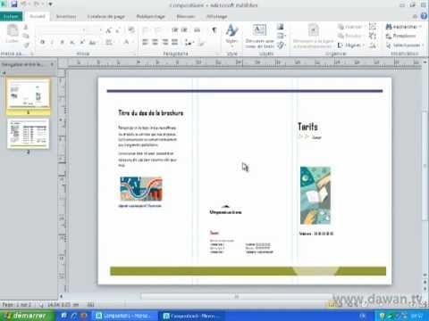Publisher 2010 : Création d'une composition
