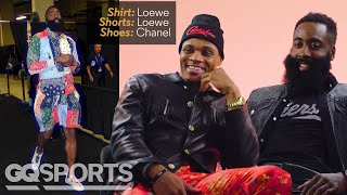James Harden & Russell Westbrook Break Down Their NBA Tunnel Style | GQ Sports