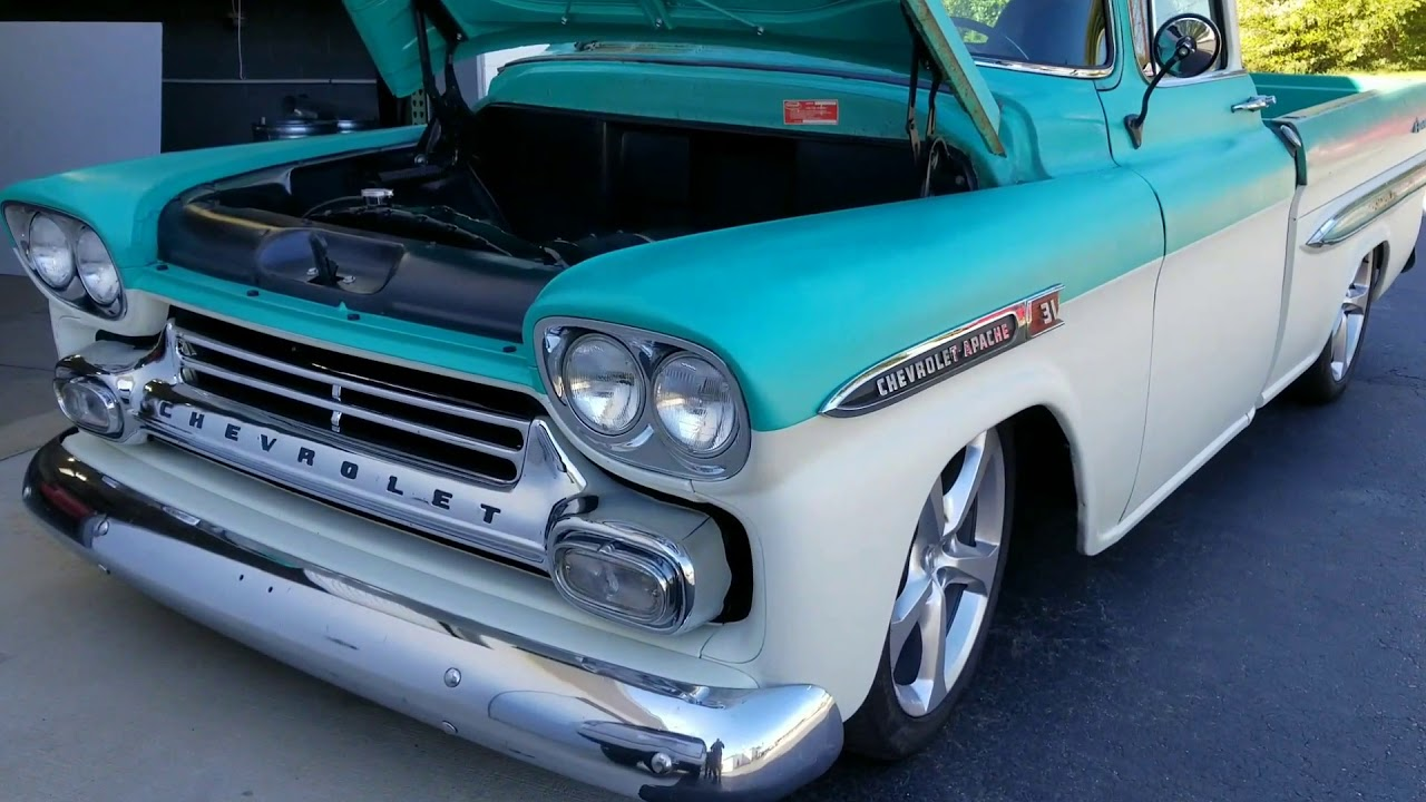 59\' Apache LS3 swap with our Custom Built Headers - YouTube