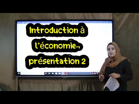 """كلية الناظور: محاضرة الأستاذة """"نجاة البارودي""""  Introduction à l'économie- présentation 2"""
