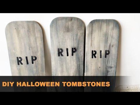VLOG 0010: DIY Halloween Tombstones