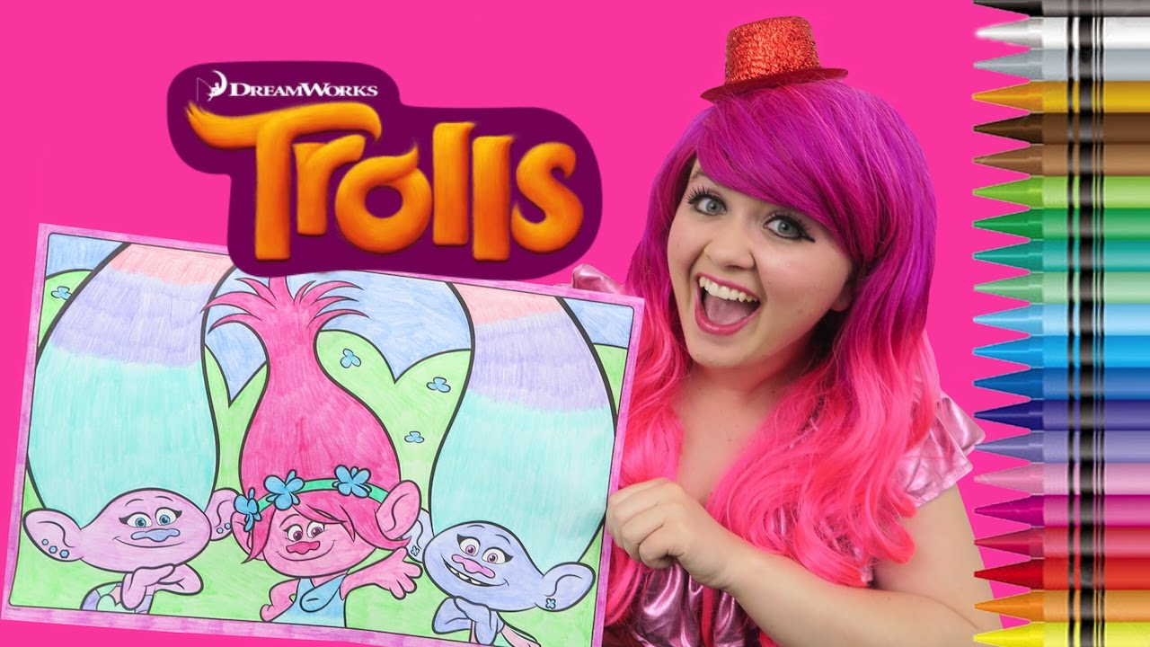 Coloring Trolls Poppy Satin Amp Chenille Giant Coloring