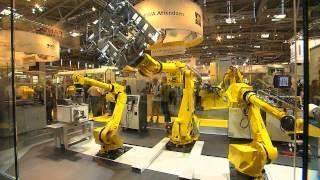 Repeat youtube video Automatica Trailer FANUC Robotics 2012