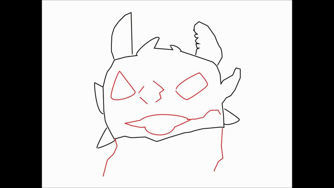 How to draw TOOTHLESS from HOW TO TRAIN YOUR DRAGON Step