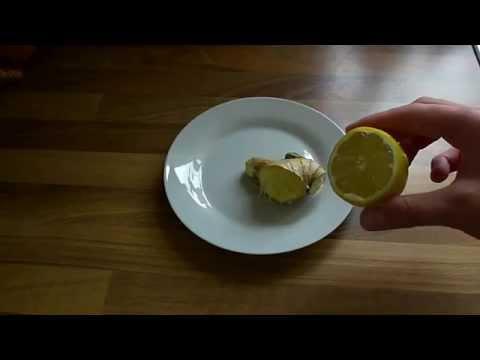 Immune system booster Ginger and Lemon juice