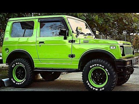 Green And Blue Color Suzuki Samurai 4x4 Modification