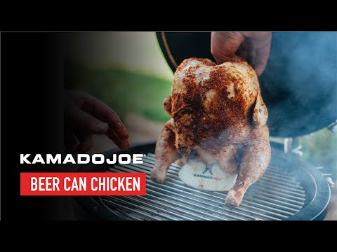 Kamado Joe Beer Can Chicken