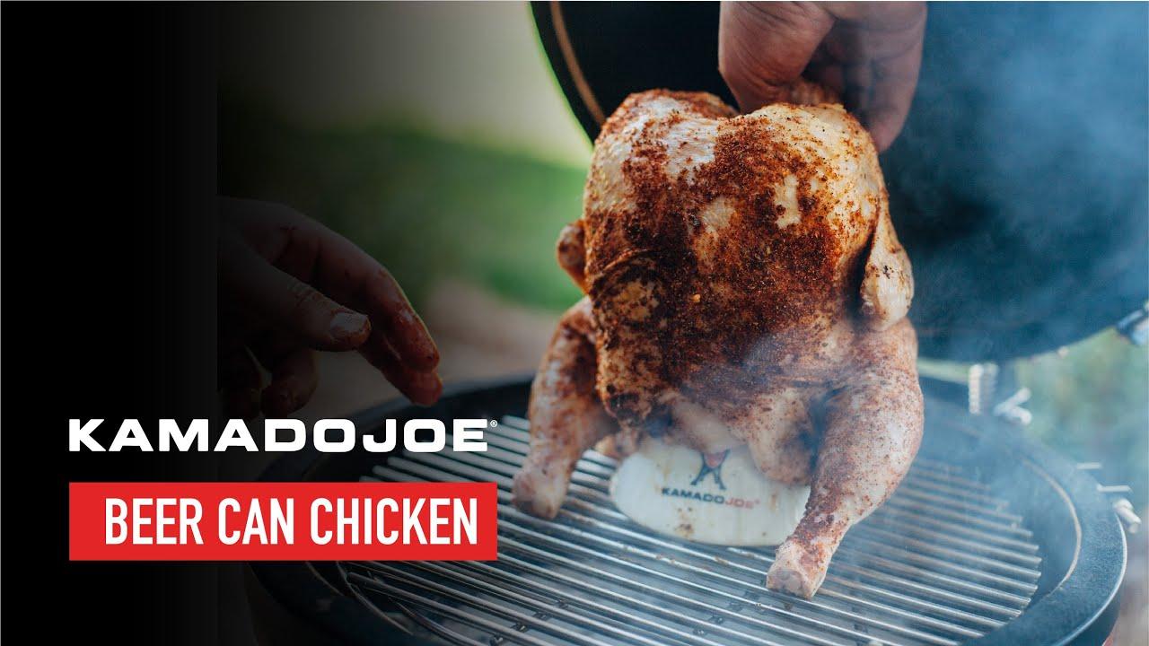 Kamado Joe Beer Can Chicken Youtube