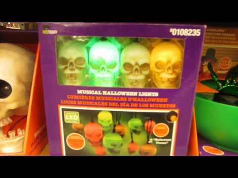 Gemmy musical halloween lights skulls