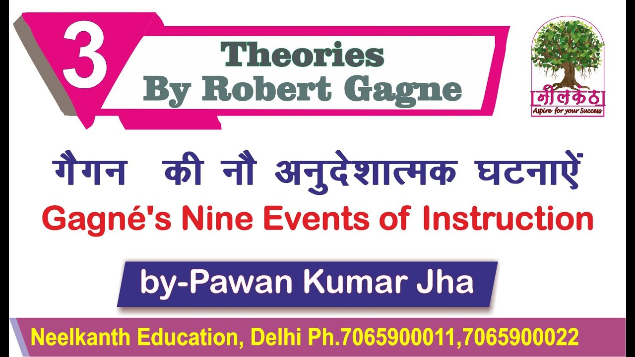 9 Events Of Instruction न अन द ष त मक घटन ऐ By Robert Mills Gagne Youtube