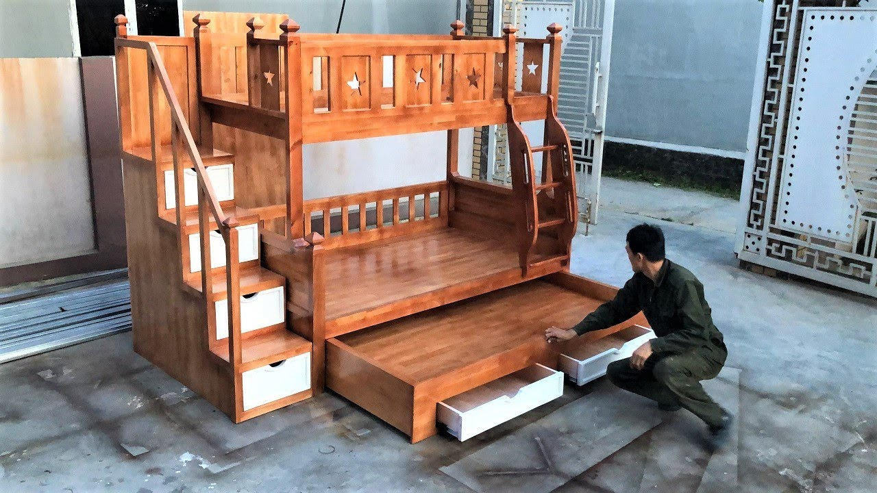 DIY - Amazing How To Build Under Hidden Drawers Smart Bed Extremely Beautiful Creative Saving Space