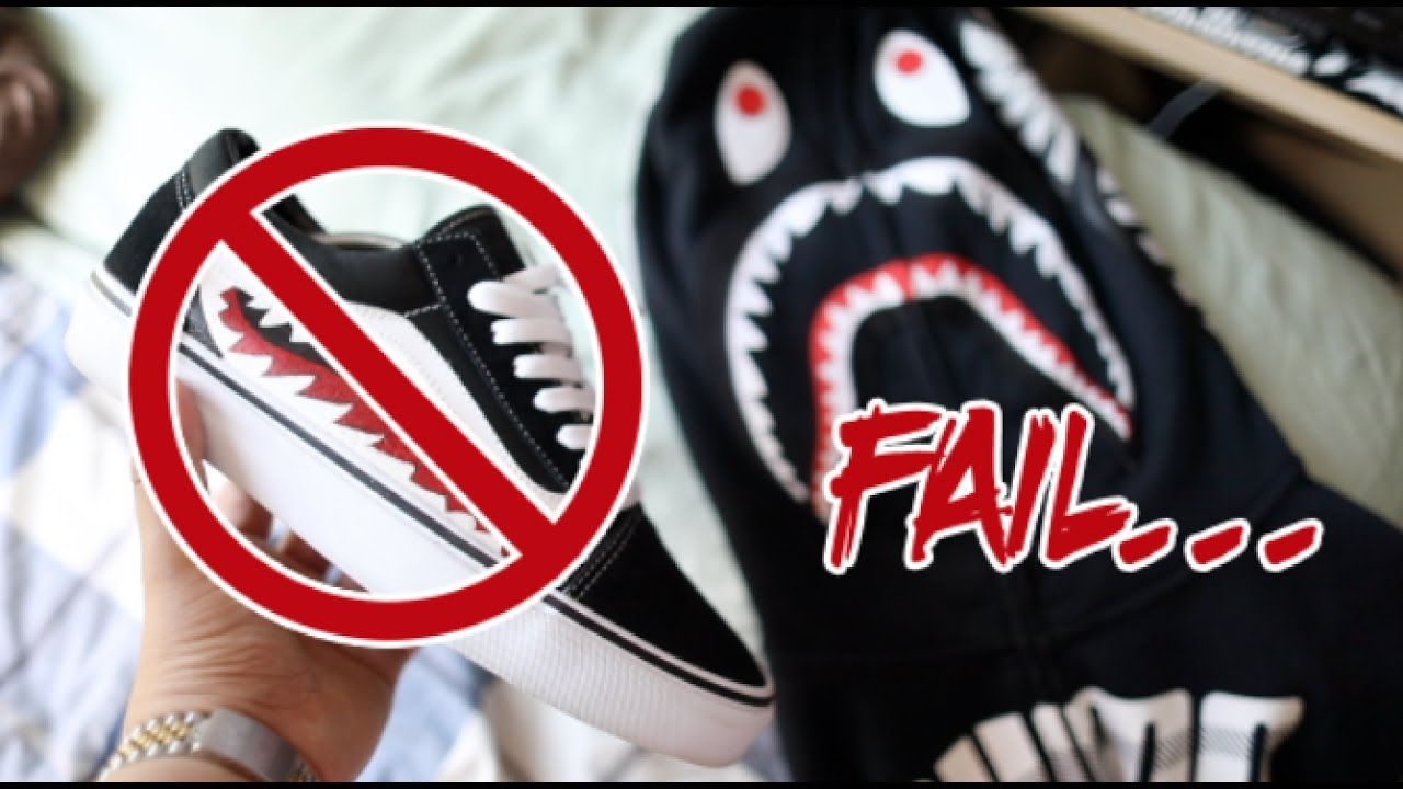 BAPE SHARK TEETH CUSTOM FAIL!!!