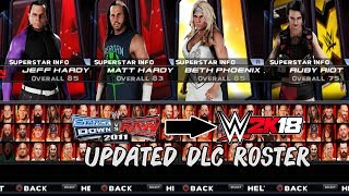 WWE 2K18 PSP, Android/PPSSPP - Updated DLC No-Model Roster Preview