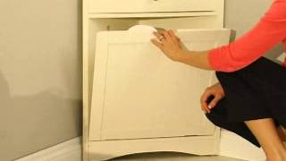 Cirrus Corner Wall Cabinet & Hamper - Product Review Video