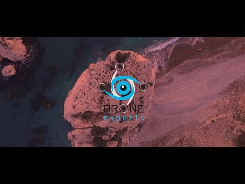 Drone Experts - Sunset at Aphrodite's Rock