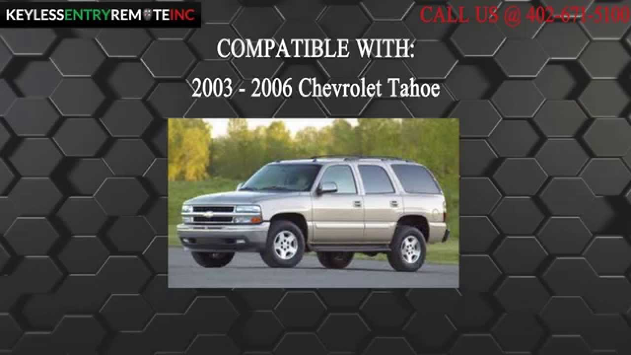 How To Replace Chevrolet Tahoe Key Fob Battery 2003 2004 2005 2006