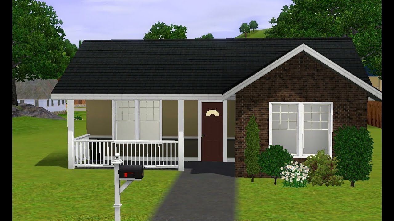 Sims 3 2 bedroom starter house for Small starter homes