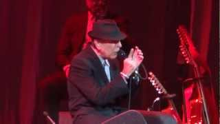 Leonard Cohen Ain`t No Cure for Love Live Montreal 2012 HD 1080P