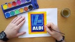 How to draw an Aldi logo - Wie zeichnet man das Aldi logo