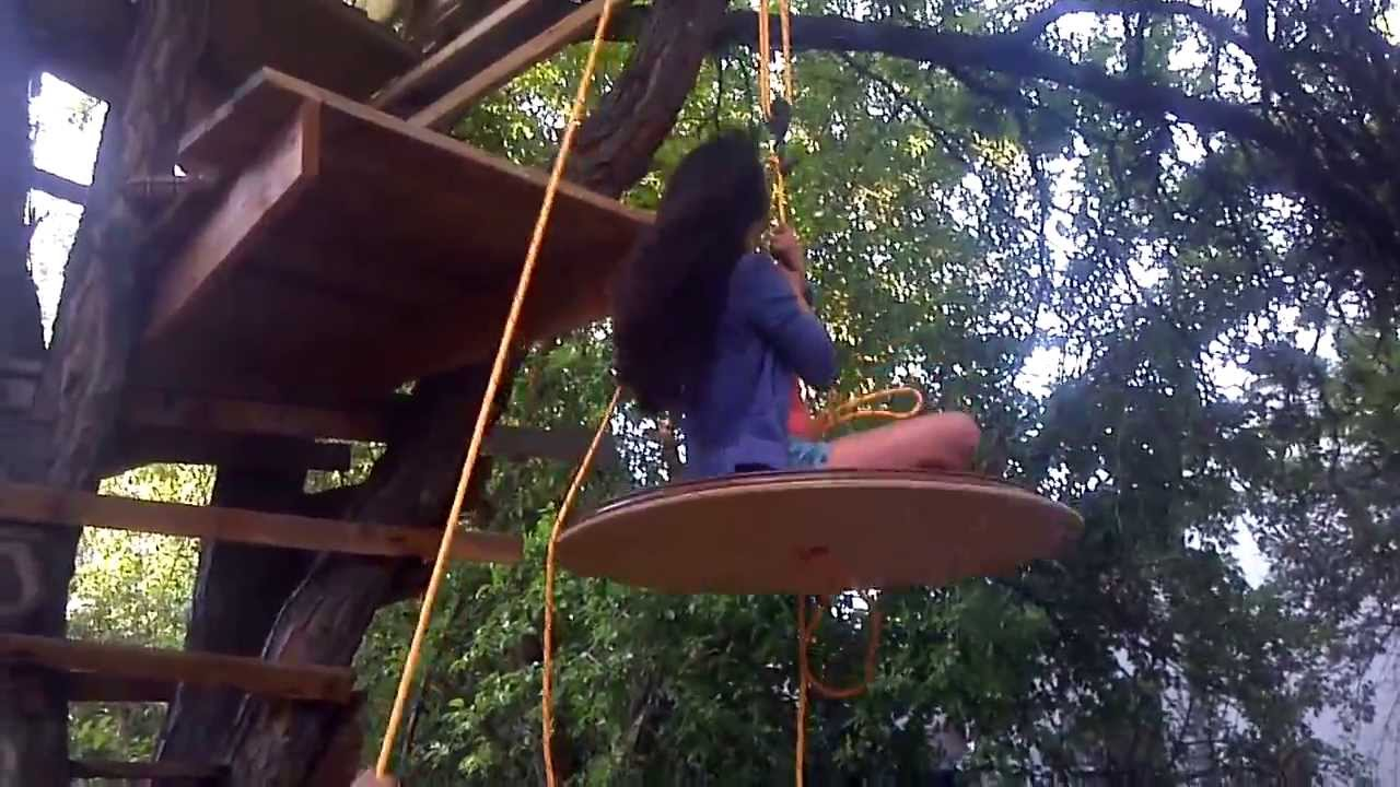 Rope And Pulley Elevator : Elevator on treehouse
