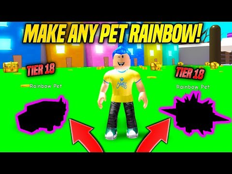I GOT SUPER RARE TIER 18 PETS AND MADE THEM RAINBOW IN PET SIMULATOR UPDATE!! *BEST PET* (Roblox)