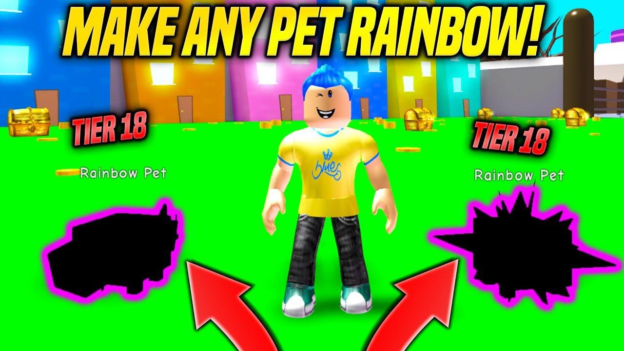 I GOT SUPER RARE TIER 18 PETS AND MADE THEM RAINBOW IN PET SIMULATOR UPDATE!! *BEST PET* (Roblox)