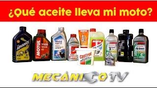 Aceite para tu moto / Especificaciones / Tipo de aceite