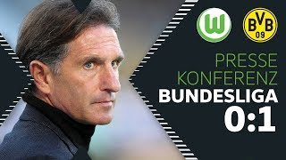 """""""Ärgerliches 1:0 kassiert""""   Pressekonferenz   VfL Wolfsburg - Borussia Dortmund"""