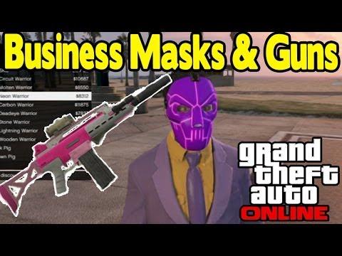 """GTA Online - NEW """"MASKS & GUNS"""" SHOWCASE (G36c & Heavy Pistol) [GTA V Business Pack DLC]"""