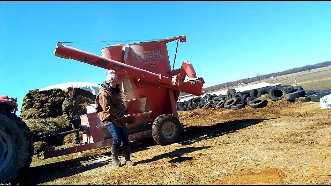 Making Calf Starter | Grinding Calf Grain | Acres of Clay Homestead