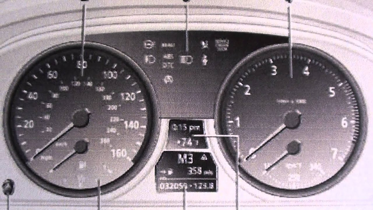 BMW 6 Series Dash Warning Lights & Symbols - YouTube